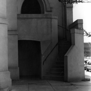 Exterior detail, First Baptist Church, Raleigh, Wake County, North Carolina