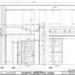 Door and trim details, Pittsboro Presbyterian Church, Pittsboro, North Carolina