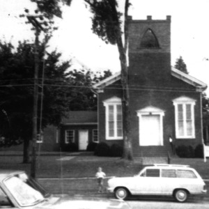 Front view, Pittsboro Presbyterian Church, Pittsboro, Chatham County, North Carolina