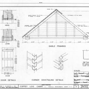 Details, Coffey Log House, Pineville, North Carolina