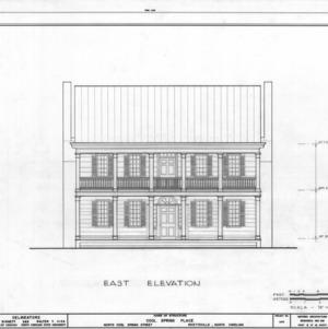 East elevation, Cool Spring Place, Fayetteville, North Carolina