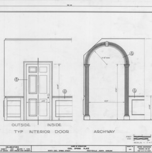 Doorway details, Cool Spring Place, Fayetteville, North Carolina