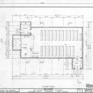 Floor plan, St. John's Episcopal Church, Battleboro, North Carolina