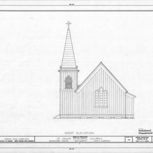 West elevation, St. John's Episcopal Church, Battleboro, North Carolina