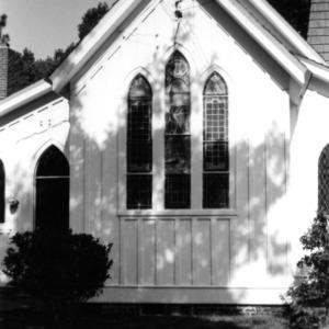 Partial view with windows, St. John's Episcopal Church, Battleboro, Edgecombe County, North Carolina