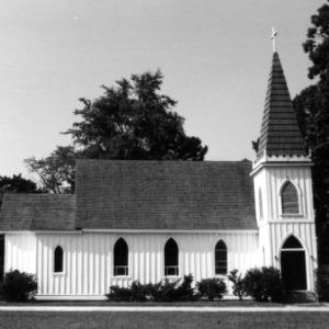 Front view, St. John's Episcopal Church, Battleboro, Edgecombe County, North Carolina
