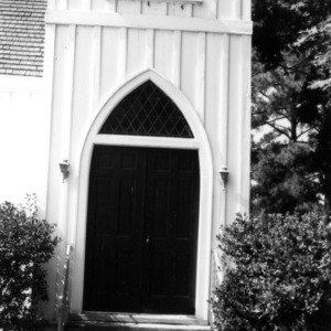 Doorway, St. John's Episcopal Church, Battleboro, Edgecombe County, North Carolina