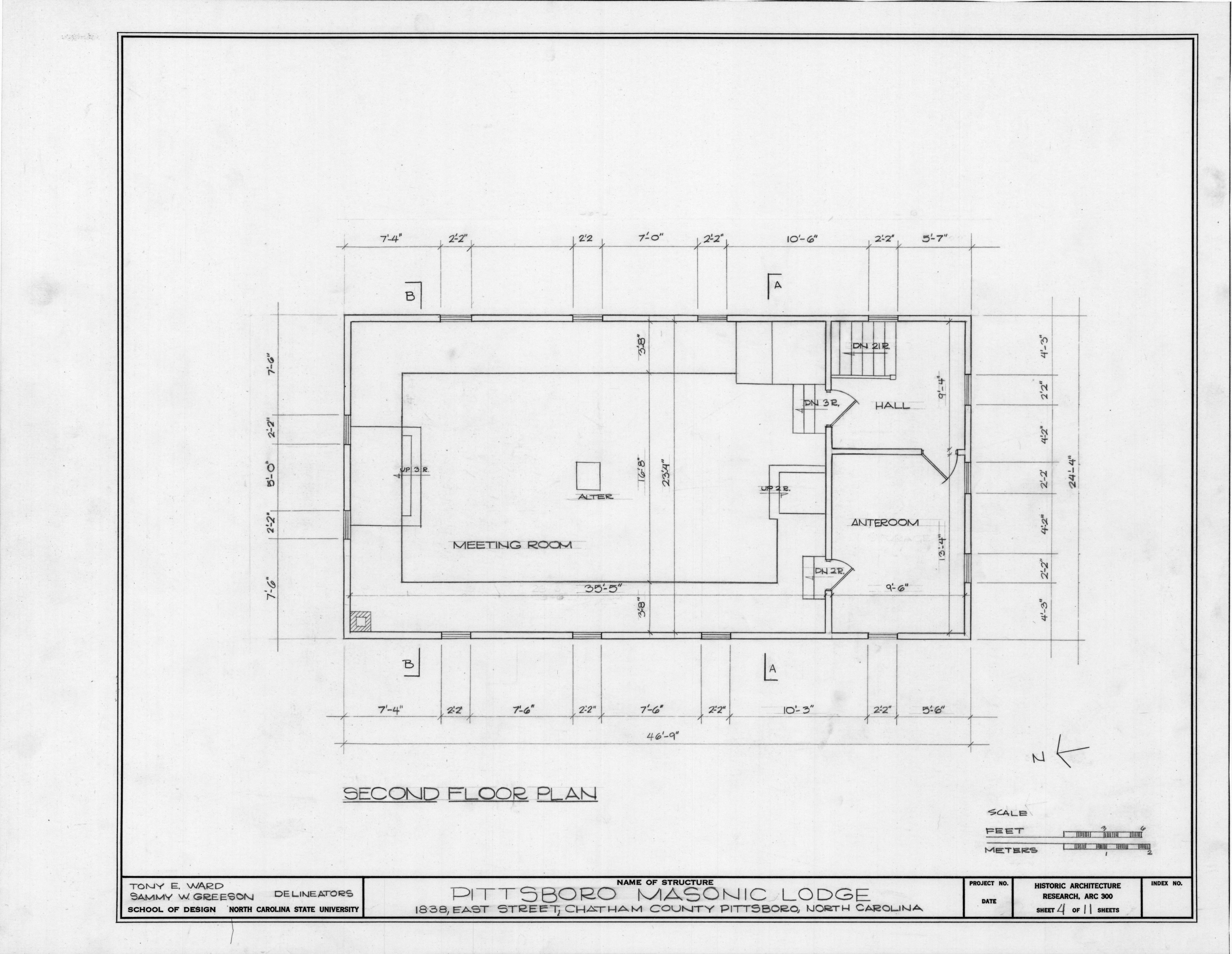 second floor plan pittsboro masonic lodge pittsboro With masonic lodge floor plan