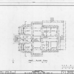 First floor plan, Montfort Hall, Raleigh, North Carolina