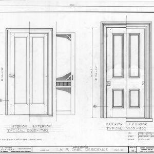 Door details, Ambassador Walter Hines Page Birthplace, Cary, North Carolina