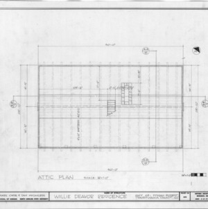 Attic plan, Allison-Deaver House, Transylvania County, North Carolina