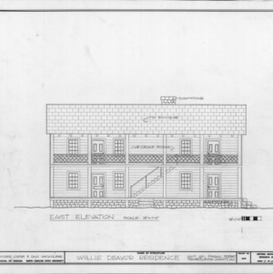 East elevation, Allison-Deaver House, Transylvania County, North Carolina
