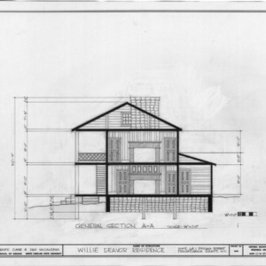 Cross section, Allison-Deaver House, Transylvania County, North Carolina