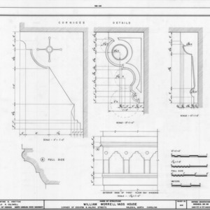 Cornice and trim details, William Worrell Vass House, Raleigh, North Carolina