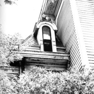 Exterior detail, William Worrell Vass House, Raleigh, North Carolina