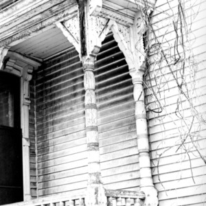 Porch detail, William Worrell Vass House, Raleigh, North Carolina