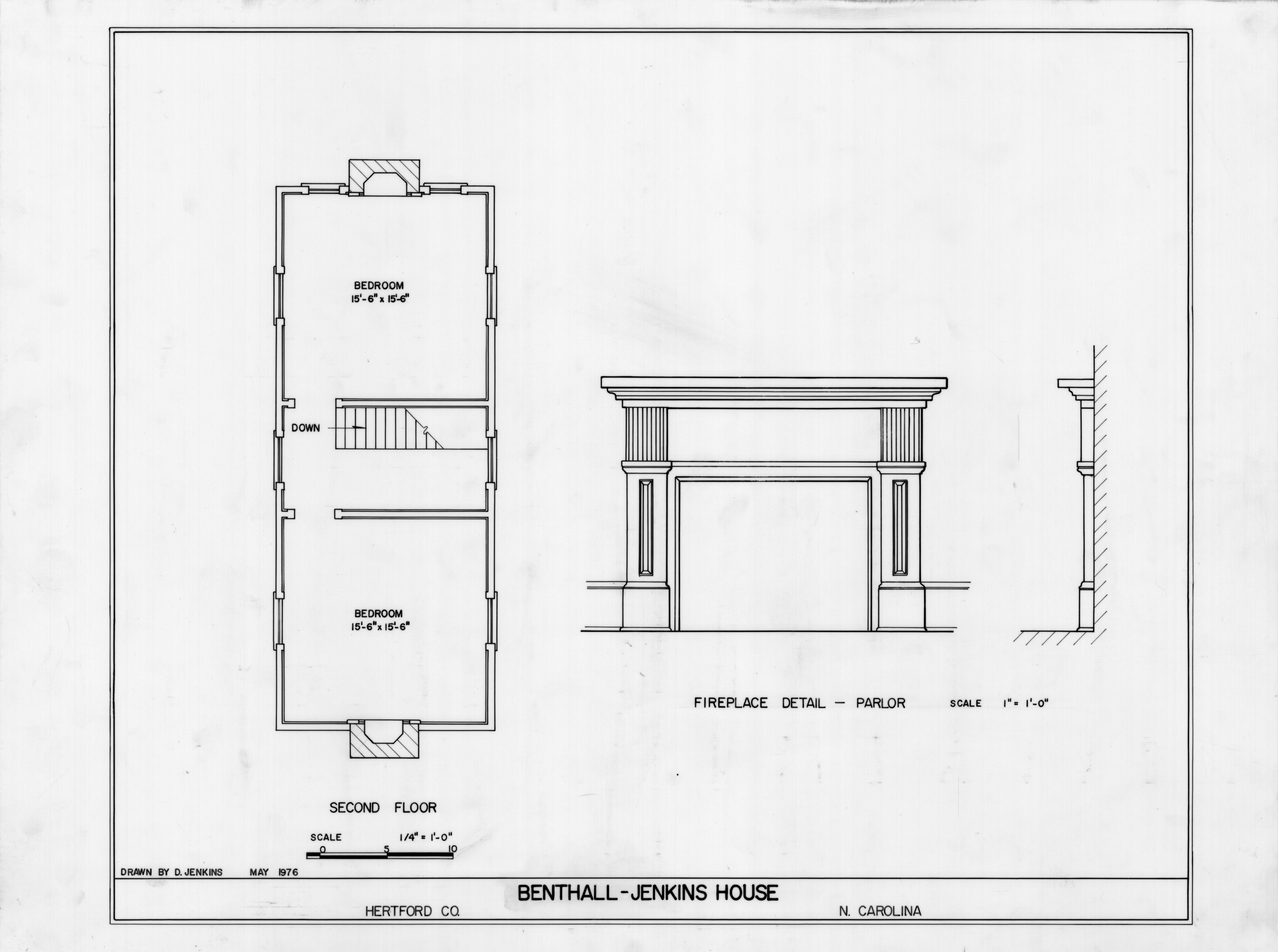 Second Floor Plan And Fireplace Details Benthall Jenkins