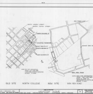 Site plans, Phiefer House, Charlotte, North Carolina
