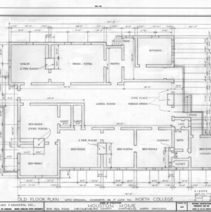 Floor plan prior to relocation, Phiefer House, Charlotte, North Carolina