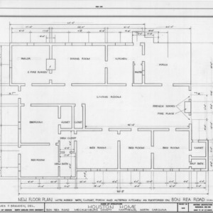 Floor plan after relocation, Phiefer House, Charlotte, North Carolina