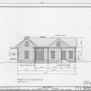 South elevation, Phiefer House, Charlotte, North Carolina