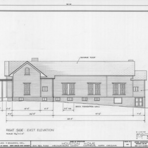 East elevation, Phiefer House, Charlotte, North Carolina