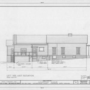 West elevation, Phiefer House, Charlotte, North Carolina