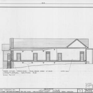 Longitudinal section, Phiefer House, Charlotte, North Carolina