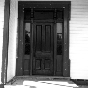Front door, Phiefer House, Charlotte, Mecklenburg County, North Carolina