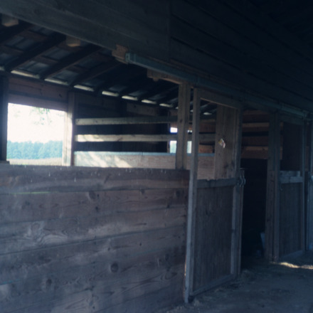Barn interior view, Garrett-White House, Bertie County, North Carolina