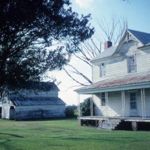 View with barn, Garrett-White House, Bertie County, North Carolina