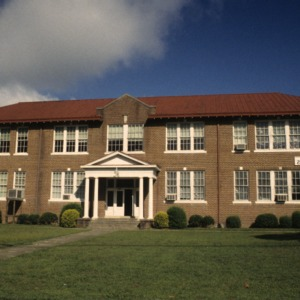 Front view, Windsor High School, Bertie County, North Carolina
