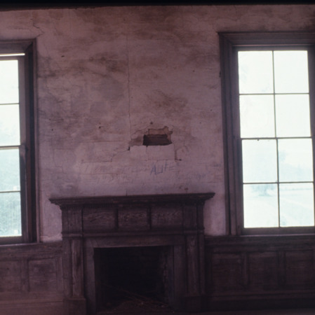 Interior view with fireplace, Hope Plantation, Bertie County, North Carolina