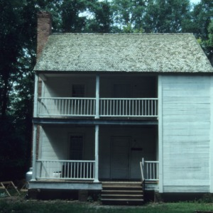 View with partially enclosed stair, Harmony Hall, Bladen County, North Carolina