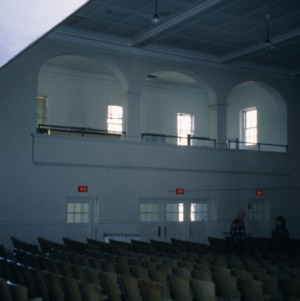 Interior view with gallery, Biltmore School, Asheville, Buncombe County, North Carolina