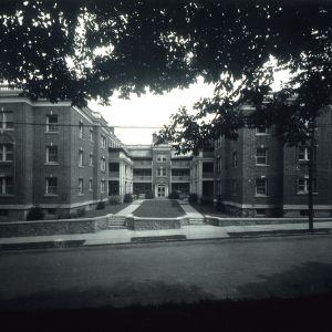 Front view, Carolina Apartments, Asheville, Buncombe County, North Carolina