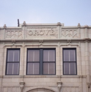 Exterior detail, Grove Arcade, Asheville, Buncombe County, North Carolina