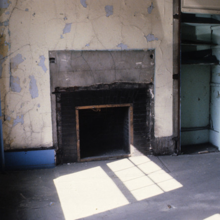 Interior view with fireplace, YMI Building, Asheville, Buncombe County, North Carolina