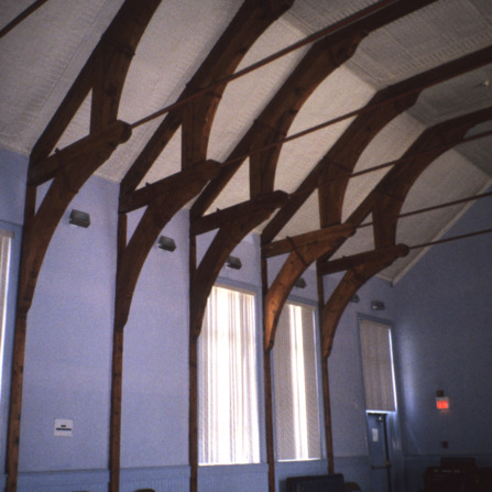 Interior view with buttresses, YMI Building, Asheville, Buncombe County, North Carolina