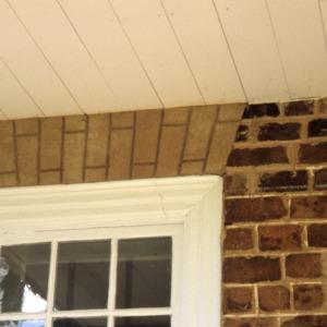 Exterior detail, Quaker Meadows, Burke County, North Carolina