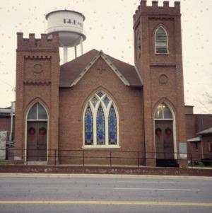 Front view, Gaston Chapel A.M.E. Church, Morganton, Burke County, North Carolina