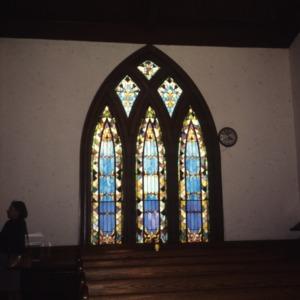Interior view, Gaston Chapel A.M.E. Church, Morganton, Burke County, North Carolina