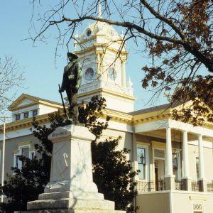 View, Burke County Courthouse, Morganton, Burke County, North Carolina