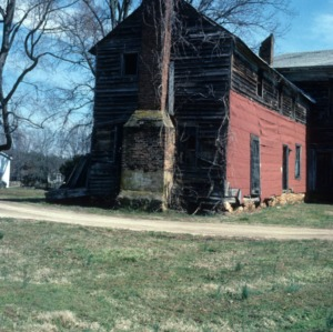 Side view with chimney, Favoni, Cabarrus County, North Carolina