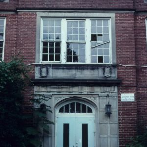 Doorway, Lenoir High School, Lenoir, Caldwell County, North Carolina