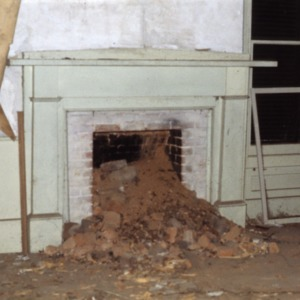 Fireplace, Bartlett Yancey House, Caswell County, North Carolina