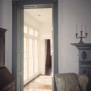 Interior view with doorway, Moore-Gwyn House, Locust Hill, Caswell County, North Carolina