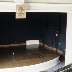Interior view, auditorium, Claremont High School, Hickory, Catawba County, North Carolina
