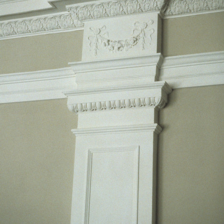 Pilaster detail, Claremont High School, Hickory, Catawba County, North Carolina