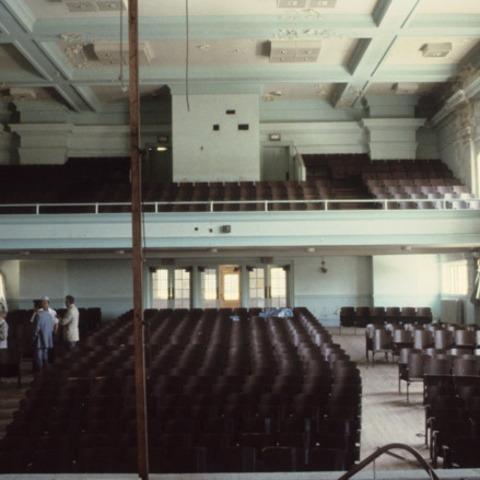 Interior view, auditorium, Claremont High School, Hickory, Catawba County, North Carolina
